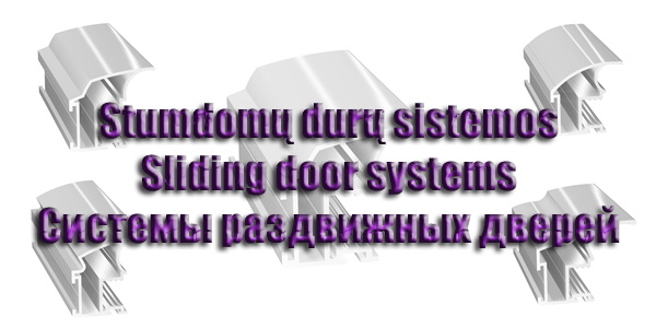 Sliding door systems and their accessories